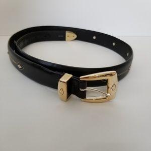 Brighton Black Leather Belt Size 38